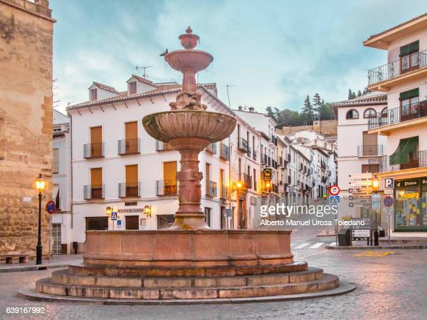 Spain, Malaga, Antequera, San Sebastian square FOUNTAIN