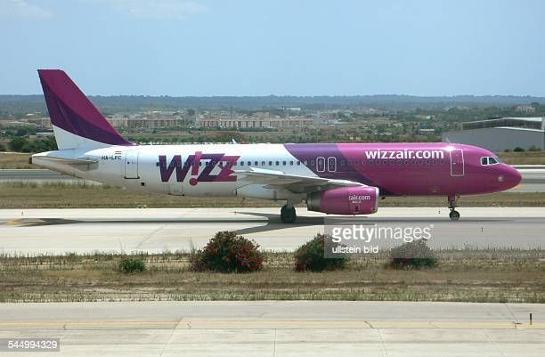 aircraft Airbus 320200 by Wizz Air Hungary Airlines Ltd at the airport