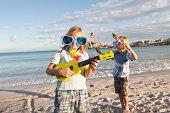 Spain, Mallorca, Children playing on beach