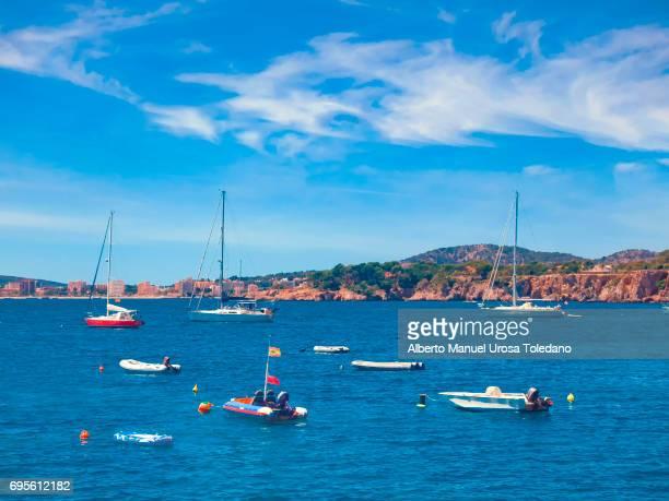 Spain, Mallorca Island, Vessels at Portals Nous