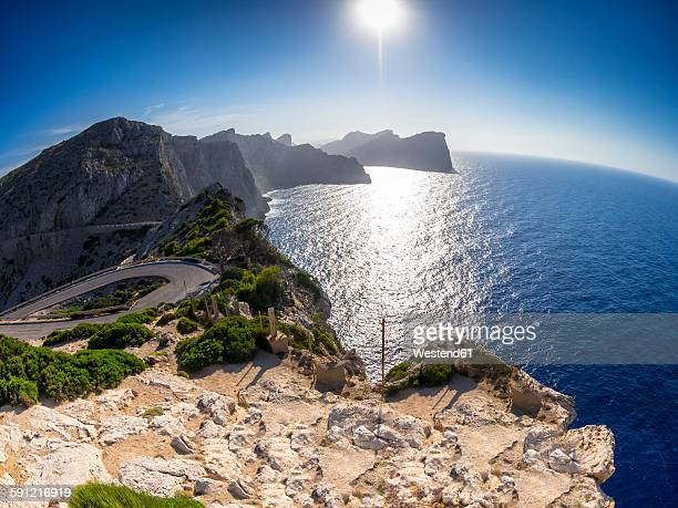 Spain, Mallorca, Mountain road at Cap Formentor