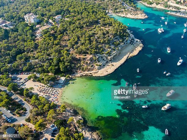 Spain, Mallorca, Palma de Mallorca, Aerial view, El Toro, beach near Portals Vells