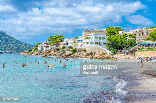 Spain, Mallorca, view to beach of Sant Elm
