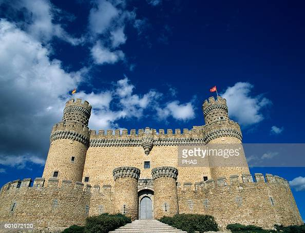 Spain Manzanares El Real New Castle of Manzanares el Real Built in 1475 by Diego Hurtado de Mendoza son of the Marquis of Santillana Exterior...