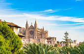 View of Cathedral La Seu, Spain Palma de Mallorca, Balearic islands