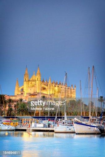 Spain, Palma de Mallorca, Harbour and Old Town