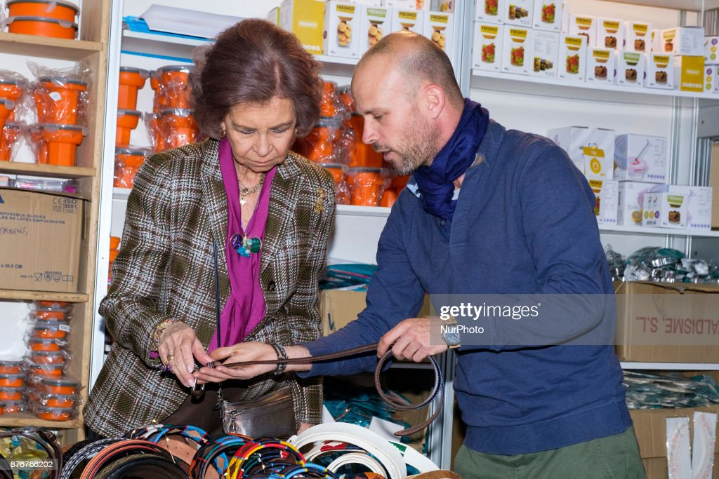Spain Queen Sofia visits sale by Nuevo Futuro