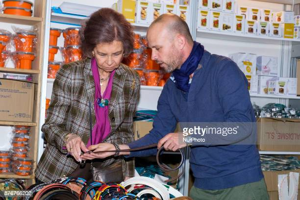 Spain Queen Sofia visits the charity jumble sale organized by Nuevo Futuro Association at Casa de Campo Convention Center in Madrid Spain 20 November...