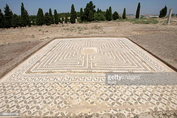 Spain Roman city of Italica Founded in 206 BC House of Neptune Labyrinth Mosaic Domus roman