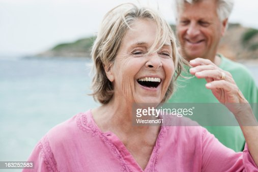 Spain, Senior couple at beach
