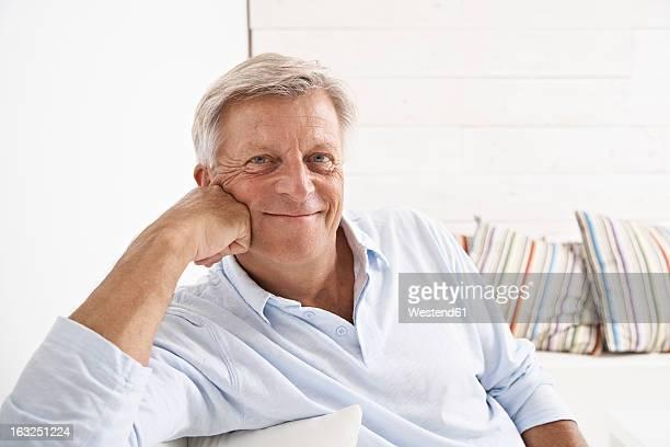Spain, Senior man smiling, portrait