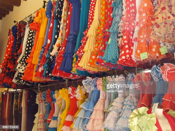 Spain, Seville, Flamenco dress shop