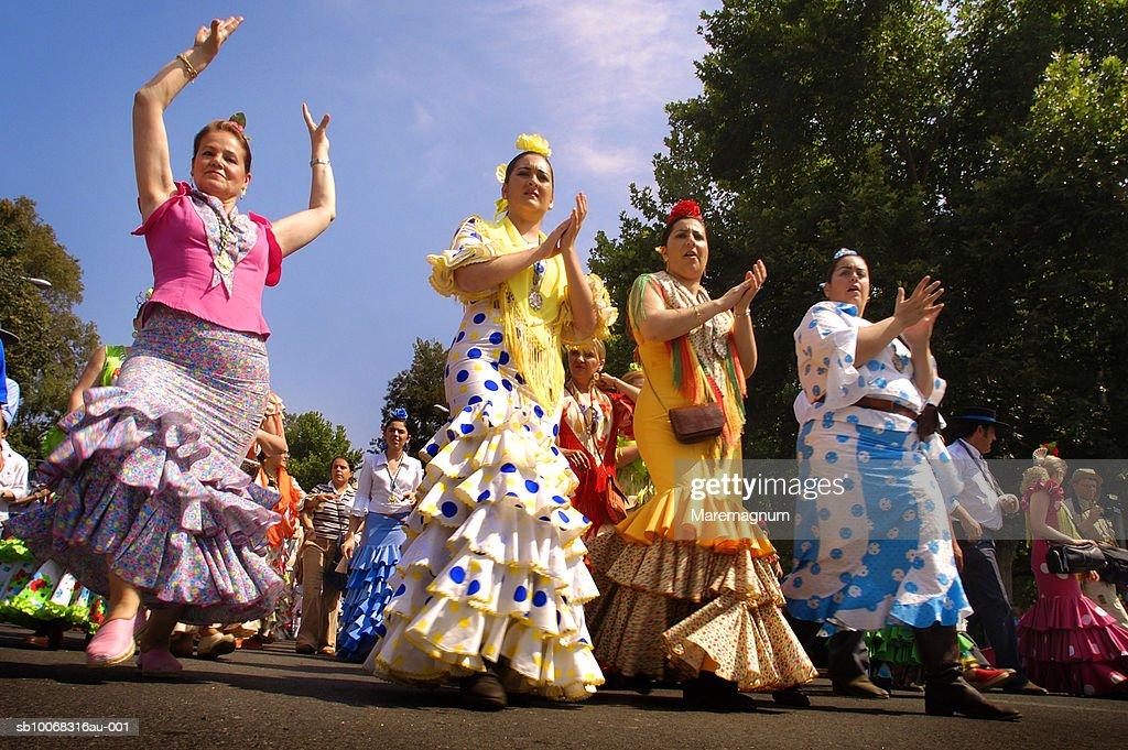 Spain, Seville, Hermanidad de Triana starting to Rocio : Stock Photo