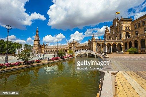 Spain Square in Seville. : Stock Photo