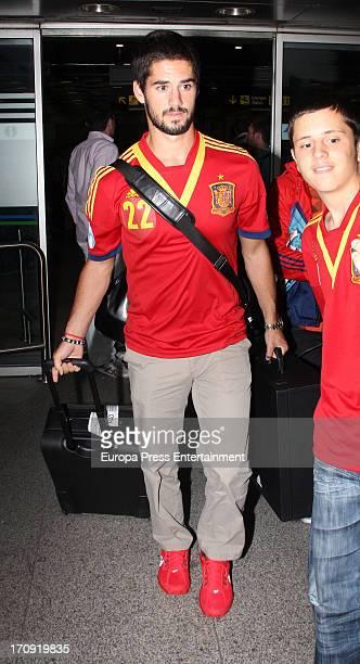 Spain winner of the UEFA Euro U21 Isco Alarcon is seen on June 19 2013 in Madrid Spain