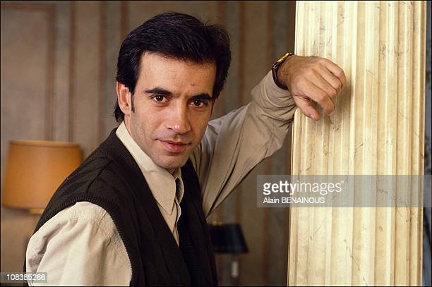 Spainish actor IMANOL ARIAS in France on November 30 1990