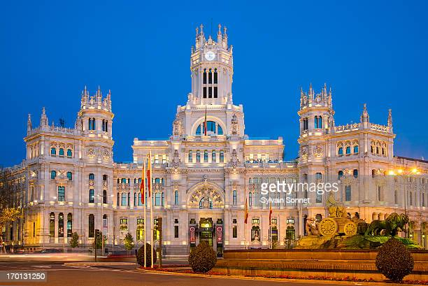 Spain,Madrid,Plaza de Cibeles at night