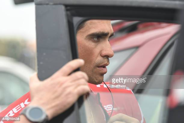 Spain's Alberto Contador from Trek Segafredo team ahead of the third stage a 186km Al Maryah Island Stage from Al Ain to Jebel Hafeet On Saturday...
