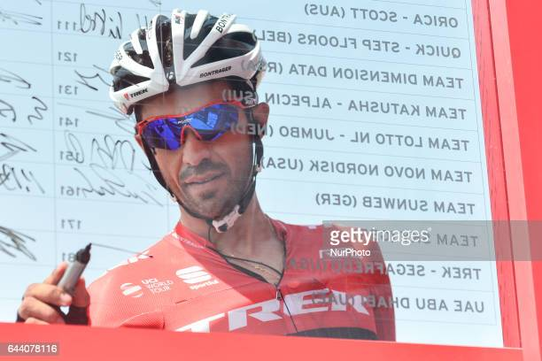 Spain's Alberto Contador from TrekSegafredo Team ahead of the opening stage a 189 km Emirates Motor Company stage from Madinat ZayedBaynounah...