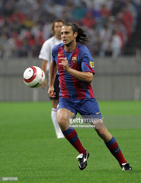 Spain's FC Barcelona Thiago Motta in action during the friendly match between FC Barcelona and Urawa Reds at Saitama Stadium on June 15 2005 in...