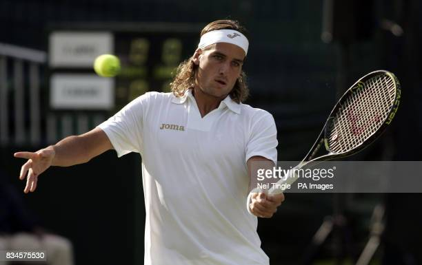 Spain's Feliciano Lopez during the Boodles Challenge 2008 at Stoke Park Club Stoke Poges