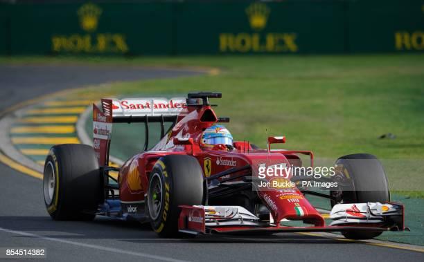 Spain's Fernando Alonso of Scuderia Ferrari during the 2014 Australian Grand Prix at Albert Park Melbourne Australia PRESS ASSOCIATION Photo Picture...