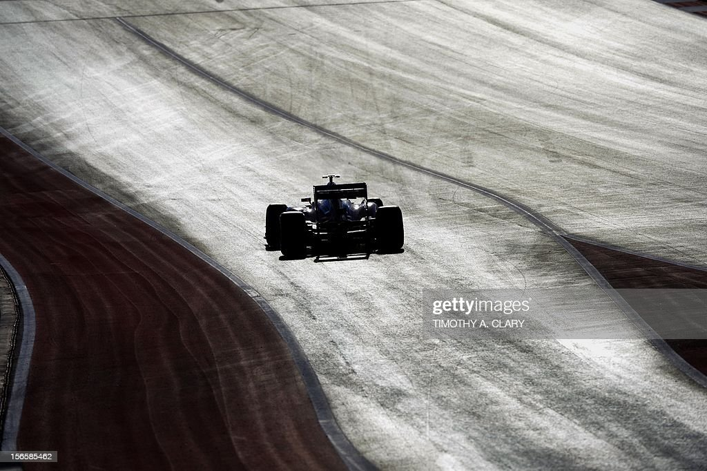 Spain's Fernando Alonso of Scuderia Ferrari steers his car during the third practice session for the United States Formula One Grand Prix at the Circuit of the Americas on November 17, 2012 in Austin, Texas.