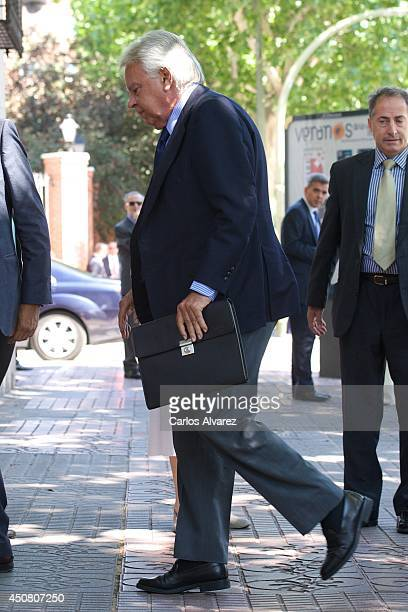 Spain's former president Felipe Gonzalez attends Real Instituto Elcano board meeting on June 18 2014 in Madrid Spain This is the last event attended...