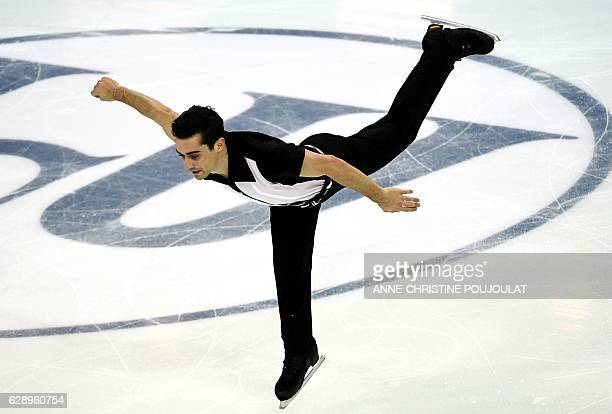 Spain's Javier Fernandez competes in the senior Men Free program at the ISU Grand Prix of figure skating Final on December 10 2016 in Marseille...