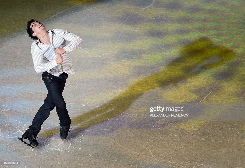 Spain's Javier Fernandez performs during gala exhibition at the ISU Grand Prix of Figure Skating Final in Sochi on December 9, 2012.