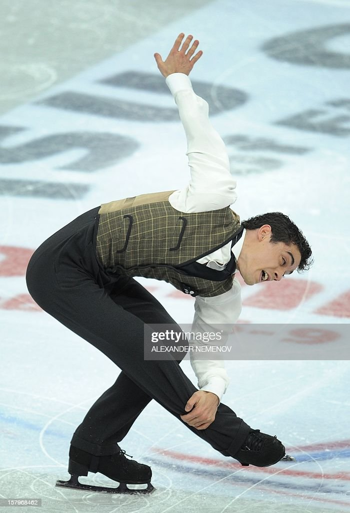 Spain's Javier Fernandez performs during men free skating event at the ISU Grand Prix of Figure Skating Final in Sochi on December 8, 2012. AFP PHOTO / ALEXANDER NEMENOV