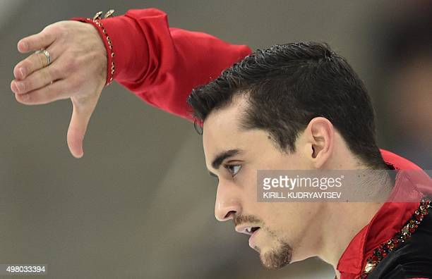 Spain's Javier Fernandez performs in the men's short program at the Rostelecom Cup 2015 ISU Grand Prix of Figure Skating in Moscow on November 20...