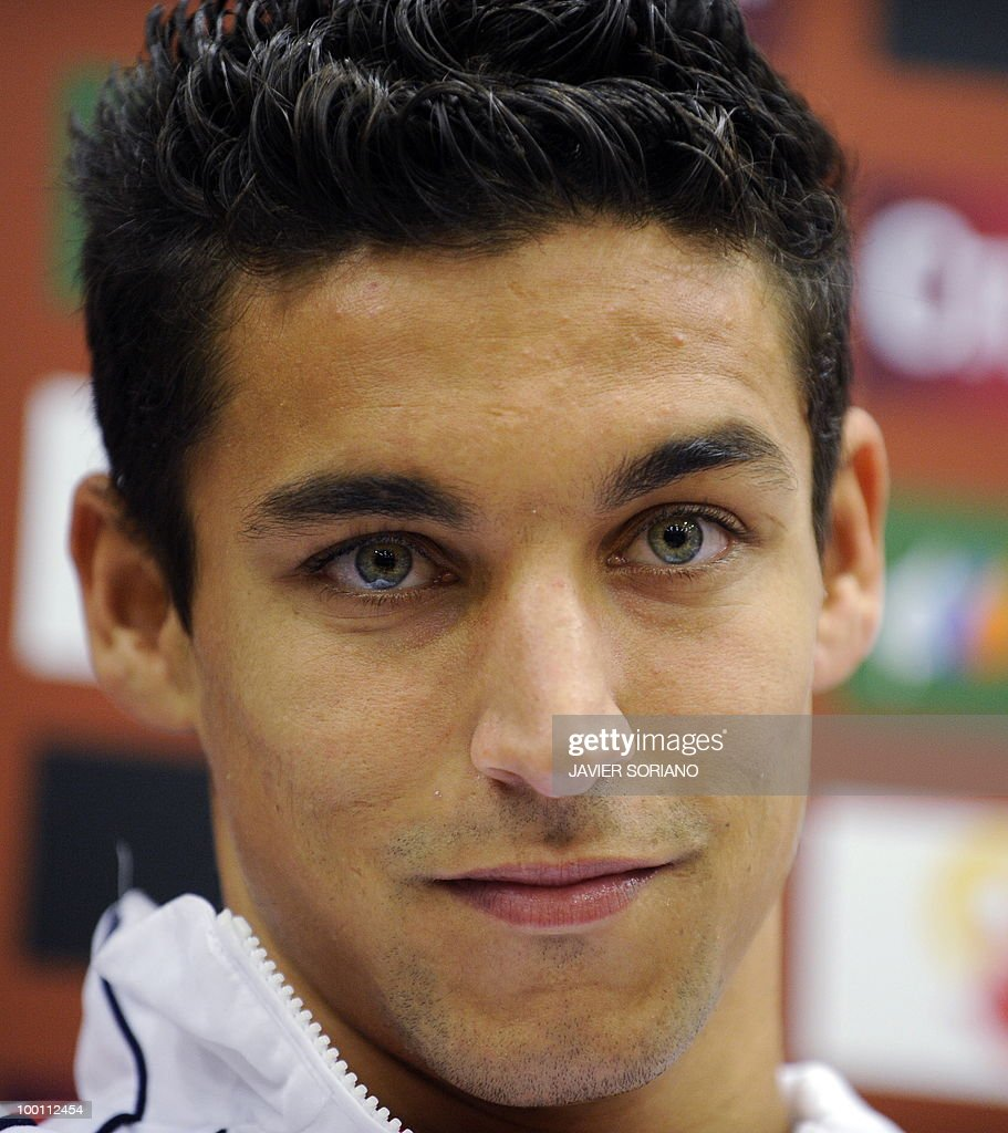 Spain's Jesus Navas gives a press conference at Las Rozas Sport City near Madrid on November 13, 2009. Spain will play a friendly match against Argentina on November 14, 2009, in preparation for the 2009 World Cup.