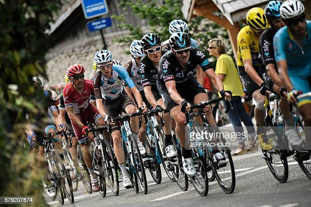 Spain's Joaquim Rodriguez France's Romain Bardet Great Britain's Geraint Thomas Great Britain's Ian Stannard Great Britain's Christopher Froome...
