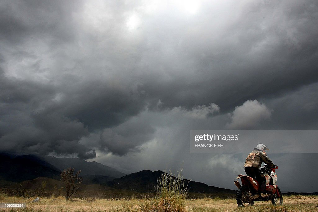 Spain´s Jose Israel Borrell Gonzalez competes during Stage 8 of the Dakar Rally 2013 between Salta and Tucuman, Argentina, on January 12, 2013. The rally takes place in Peru, Argentina and Chile from January 5-20.