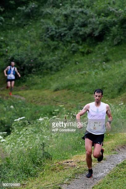 Spain's Kilian Jornet Burgada competes to win the 15th edition of the Marathon of MontBlanc on June 25 in Chamonix The Marathon of MontBlanc is an...