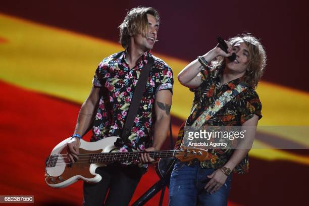 Spain's Manel Navarro perform the song 'Do It For Your Lover' during the final dress rehearsal of Eurovision Song Contest 2017 at the International...