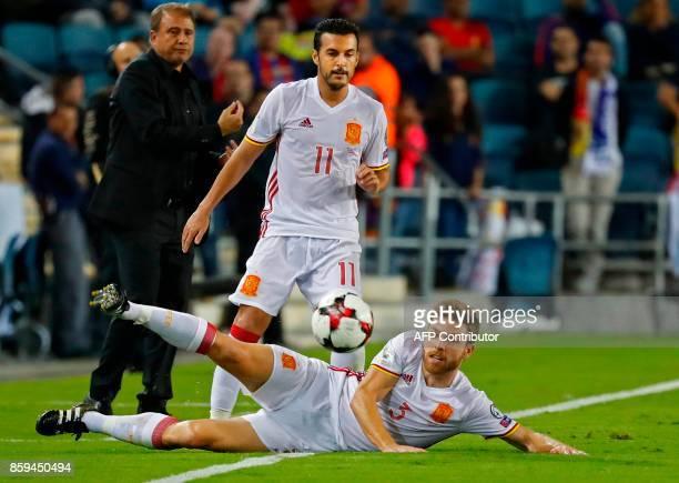Spain's midfielder Asier Illarramendi controls the ball during the Russia 2018 FIFA World Cup European Group G qualifying football match between...