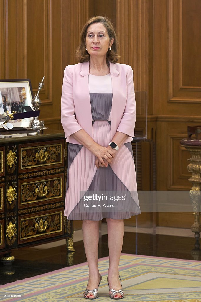 Spain's Minister of Development Ana Pastor at Zarzuela Palace on June 28, 2016 in Madrid, Spain.