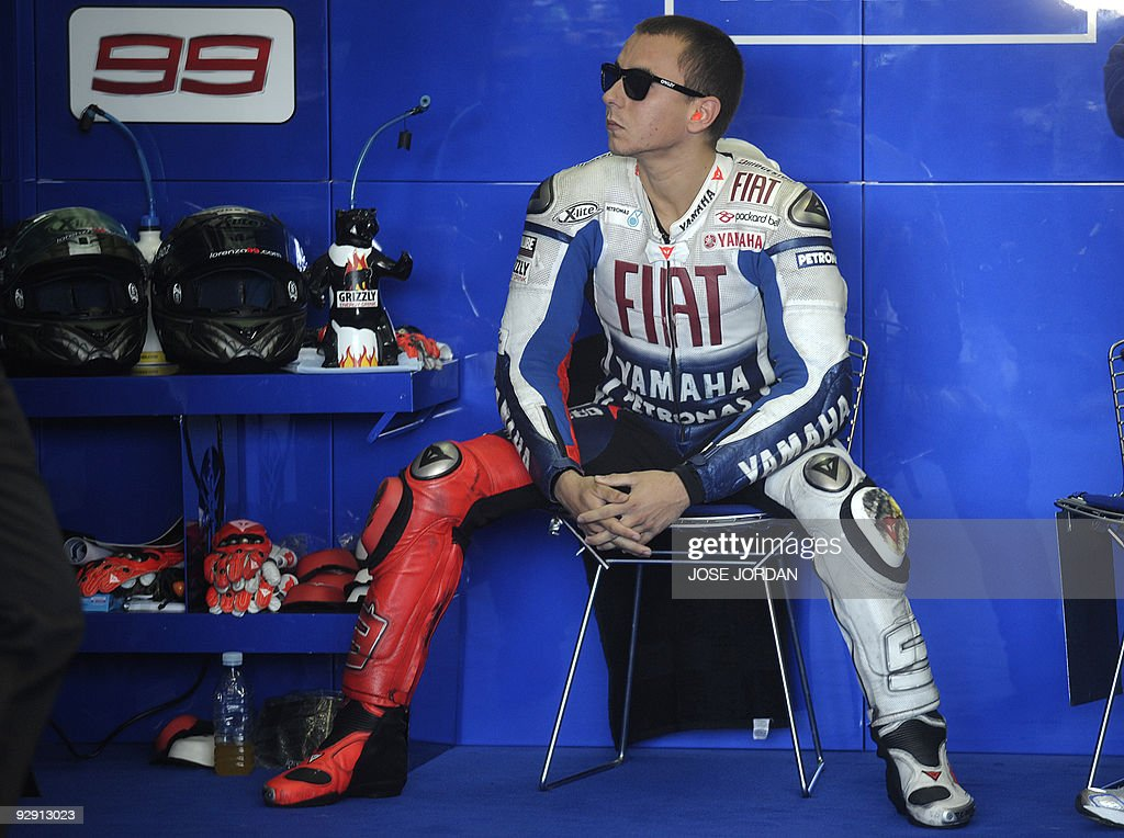 Spain´s moto GP rider Jorge Lorenzo is pictured during the Valencia's MotoGP Grand Prix free pactices at Ricardo Tormo race track in Cheste near...