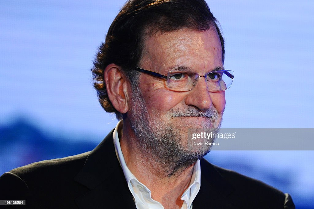 Spain's Prime Minister and President of Partido Popular (People's Party) Mariano Rajoy speaks during the official presentation of the Partido Popular (People's Party) candidates on November 21, 2015 in Barcelona, Spain. Spain's Prime Minister and President of the 'Partido Popular', (People's Party) Mariano Rajoy presented their candidates today in Barcelona ahead of Spain's elections which will take place on December 20.