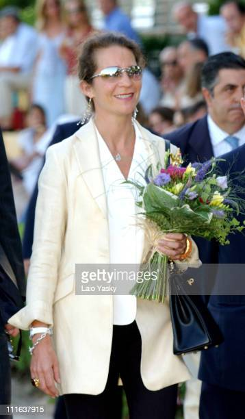 Spain's Princess Elena accompanied by her Husband Jaime de Marichalar attends the finals of the Polo Trophy 'Alfonso XIII' at the 'Puerta de Hierro...