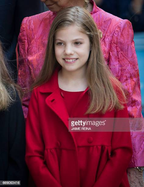 Spain's Princess Sofia poses after attending the traditional Mass of Resurrection in Palma de Mallorca on April 16 2017 / AFP PHOTO / JAIME REINA