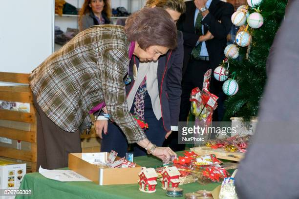 Spain's Queen Sofia visits the charity jumble sale organized by Nuevo Futuro Association at Casa de Campo Convention Center in Madrid Spain 20...