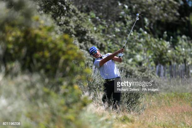 Spain's Rafael CabreraBello hits out of the rough on the 1st during day four of The Open Championship 2017 at Royal Birkdale Golf Club Southport