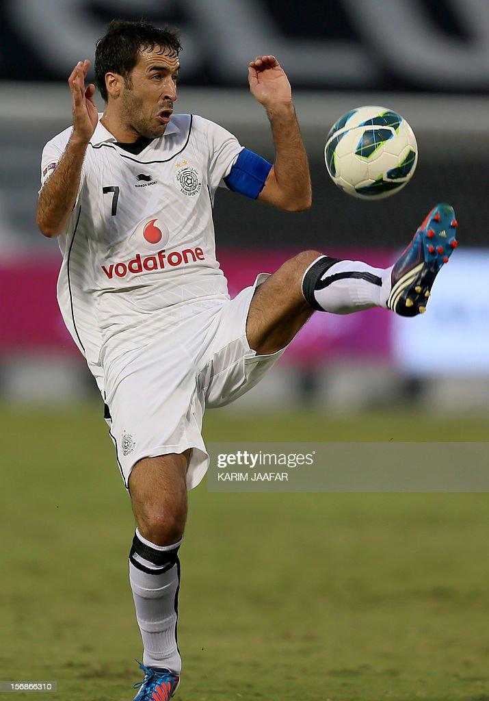 Spain's Raul of Qatar's Al-Sadd controls the ball during their Qatar Stars League football match against Al-Khor in Doha, on November 23, 2012. Al-Sadd won 2-1.