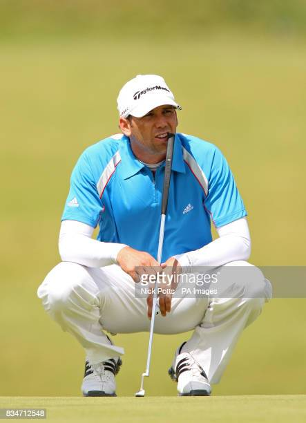 Spain's Sergio Garcia during a practice round at the Royal Birkdale Golf Club Southport