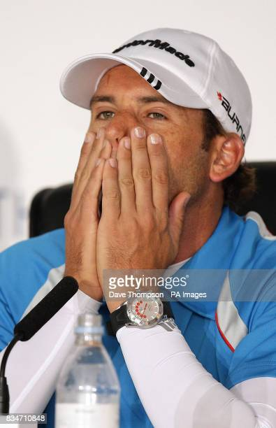 Spain's Sergio Garcia during a press conference at the Royal Birkdale Golf Club Southport
