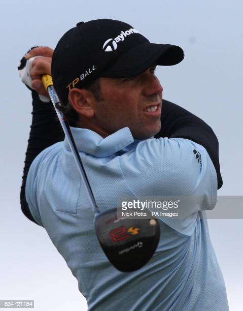 Spain's Sergio Garcia during Round One of the Open Championship at the Royal Birkdale Golf Club Southport