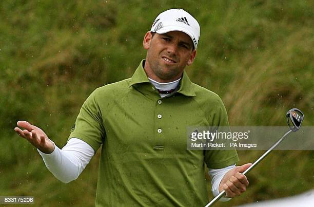 Spain's Sergio Garcia during the Final day of The 136th Open Championships at Carnoustie Scotland